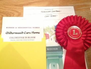 Alderwood care home wins Colchester in Bloom 2013